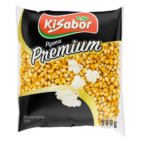 Milho para Pipoca Tipo 1 Kisabor Premium Pacote 500g