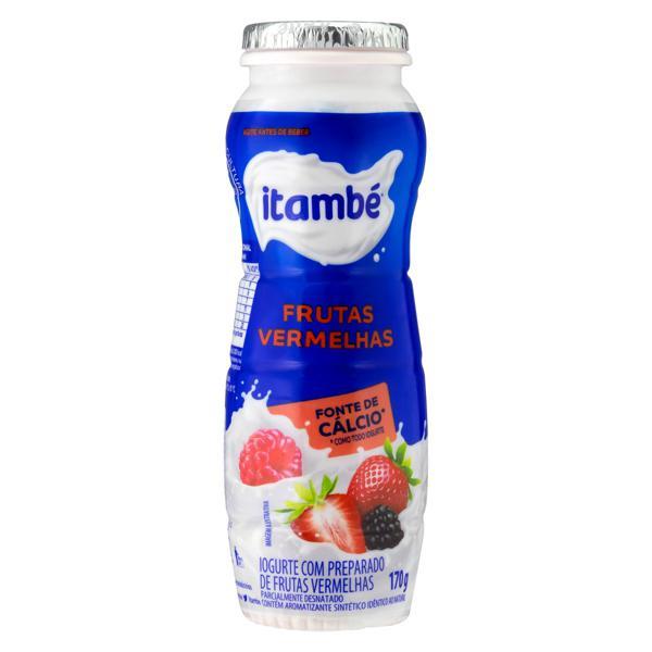 Iogurte Parcialmente Desnatado Frutas Vermelhas Itambé Frasco 170g