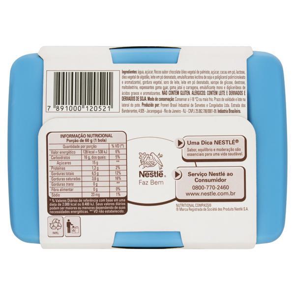 Sorvete Flocos Tradicional Nestlé Pote 1,5l