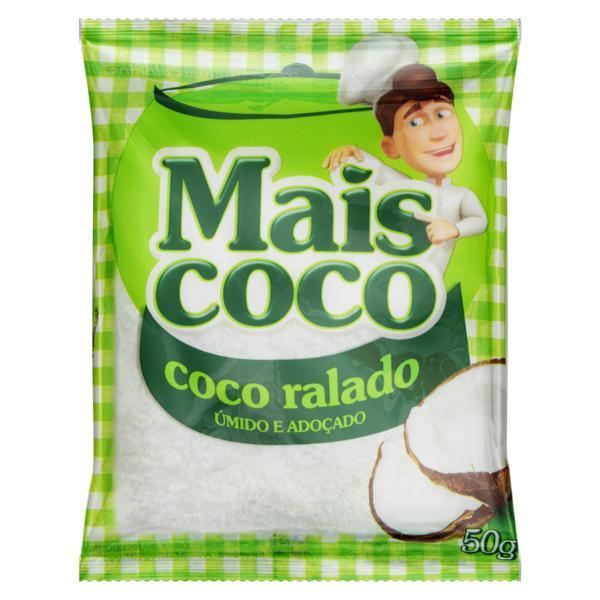 Coco Ralado Úmido Adoçado Mais Coco Pacote 50g