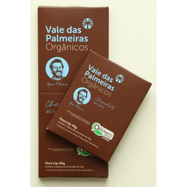 Chocolate 40% ao Leite Orgânico 80g