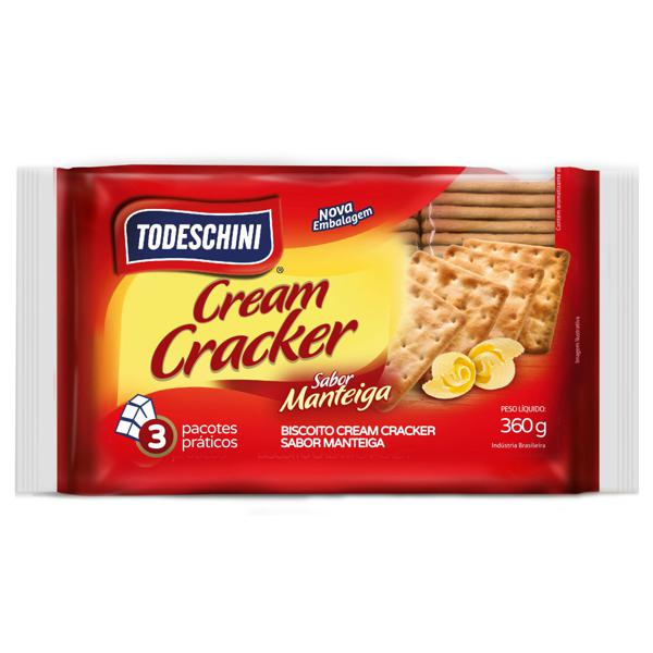 Biscoito Todeschini 360g Cream Cracker Manteiga