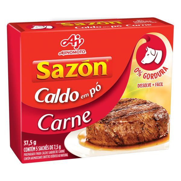 Caldo em Pó Carne Sazón Caixa 37,5g 5 Unidades