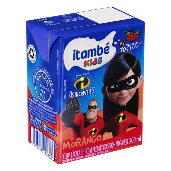 Bebida Láctea UHT Morango Os Incríveis 2 Itambé Kids Caixa 200ml