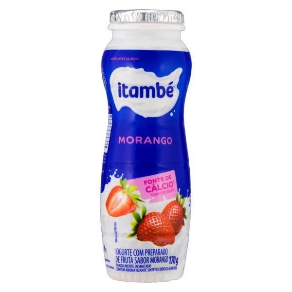 Iogurte Parcialmente Desnatado Morango Itambé Frasco 170g