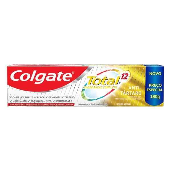 Creme Dental Antitártaro Colgate Total 12 Caixa 180g