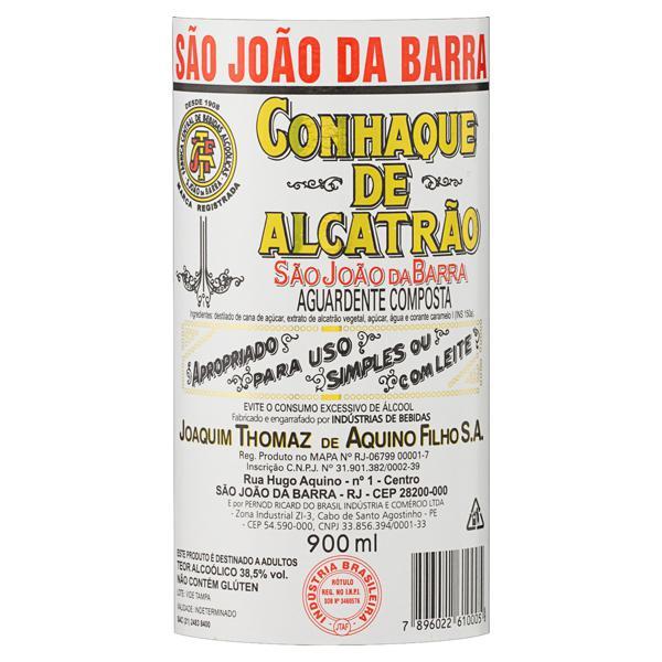 Conhaque de Alcatrão São João da Barra Garrafa 900ml