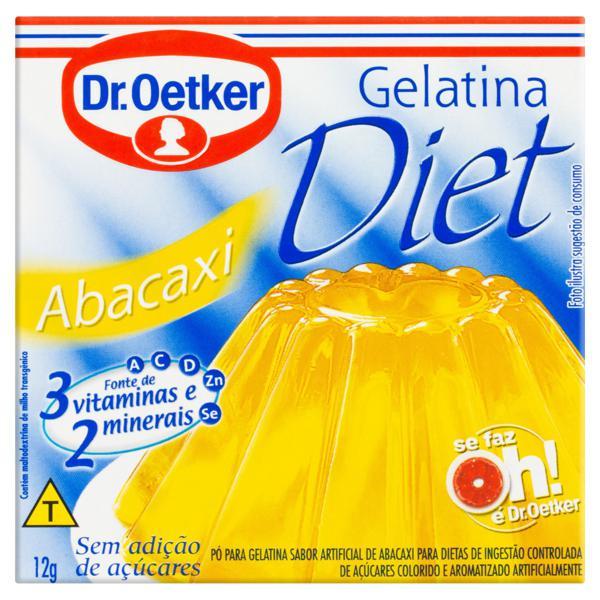 Gelatina em Pó Abacaxi Diet Dr. Oetker Caixa 12g