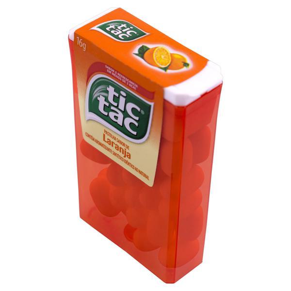 Pastilha Laranja Tic Tac Caixa 16g