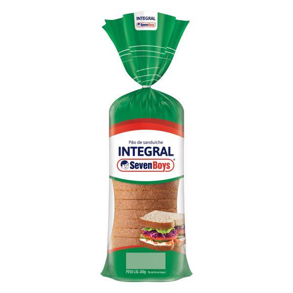 Pão de Sanduíche Integral Seven Boys Pacote 450g