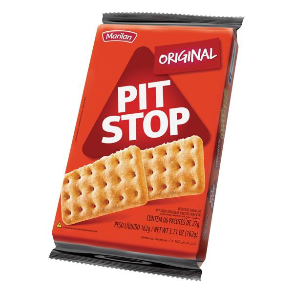 Biscoito Original Marilan Pit Stop Pacote 162g 6 Unidades