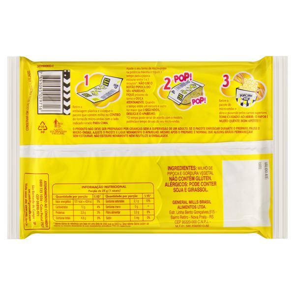 Pipoca para Micro-Ondas Natural Zero Sódio Yoki Pacote 50g