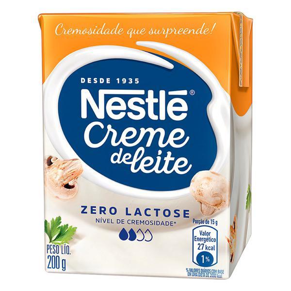 Creme de Leite UHT Leve Homogeneizado Zero Lactose Nestlé Caixa 200g