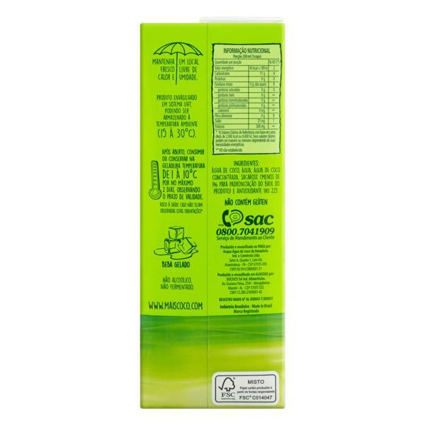 Água de Coco Esterilizada Mais Coco Caixa 1l