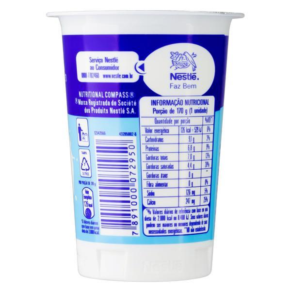 Iogurte Integral Natural Nestlé Pote 170g