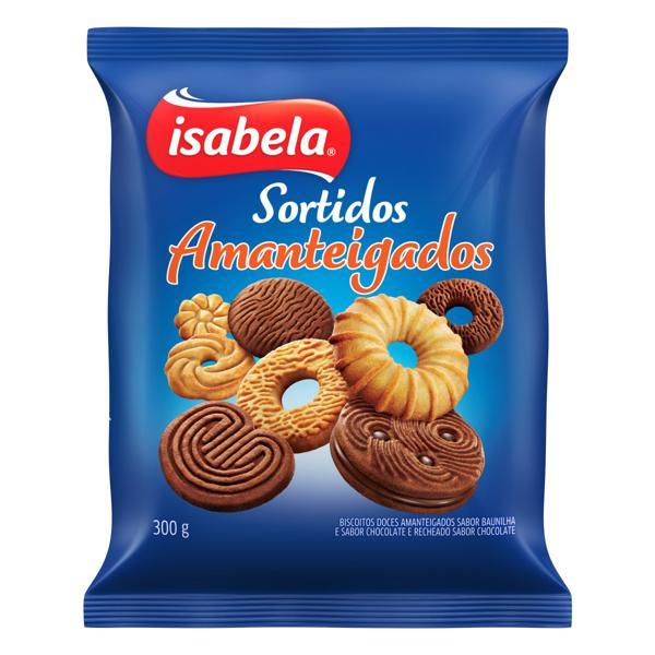 Biscoito Amanteigado Sortido Isabela Pacote 300g
