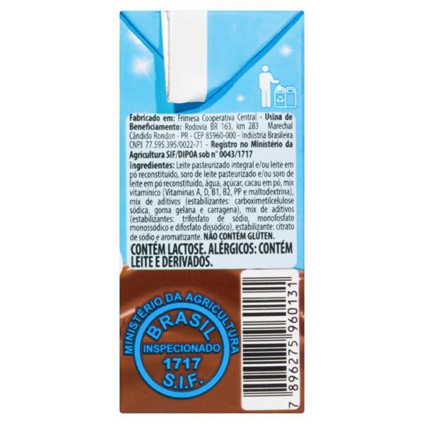 Bebida Láctea UHT Chocolate Frimesa Friminho Caixa 200ml