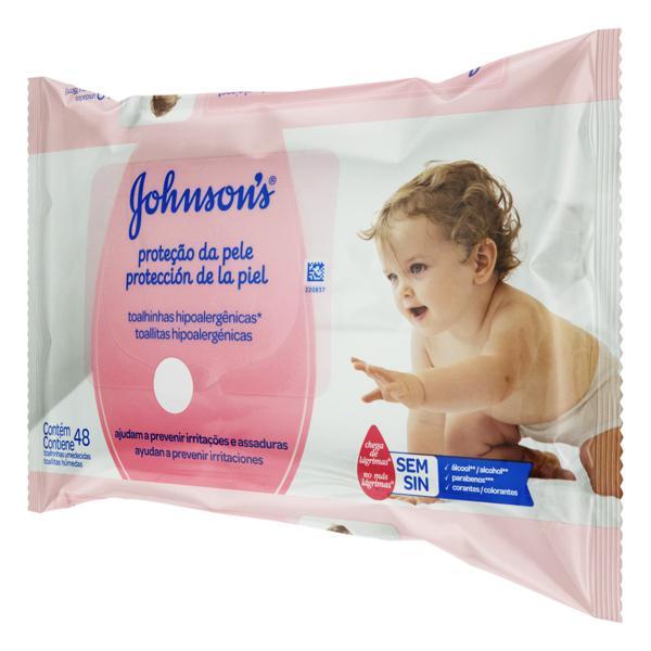 Toalha Umedecida Proteção da Pele Johnson's 20cm x 15cm Pacote 48 Unidades
