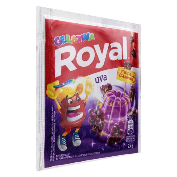 Gelatina em Pó Uva Royal Pacote 25g