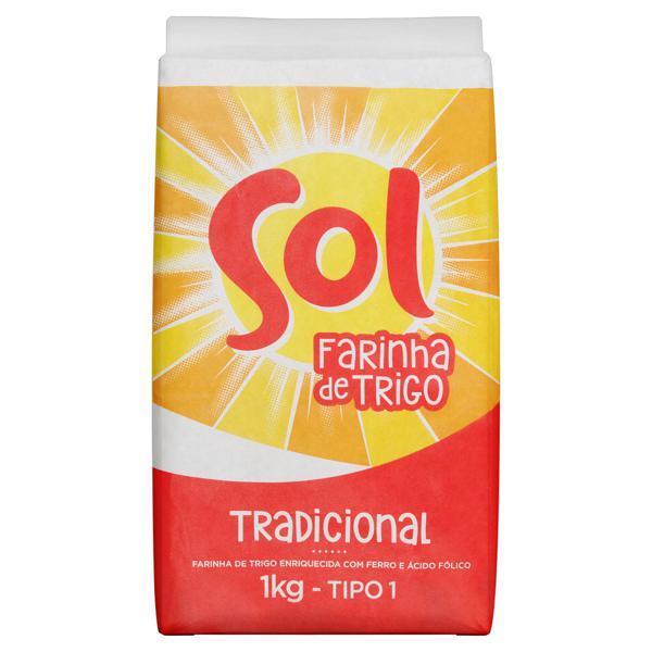 Farinha de Trigo Tipo 1 Sol Pacote 1kg