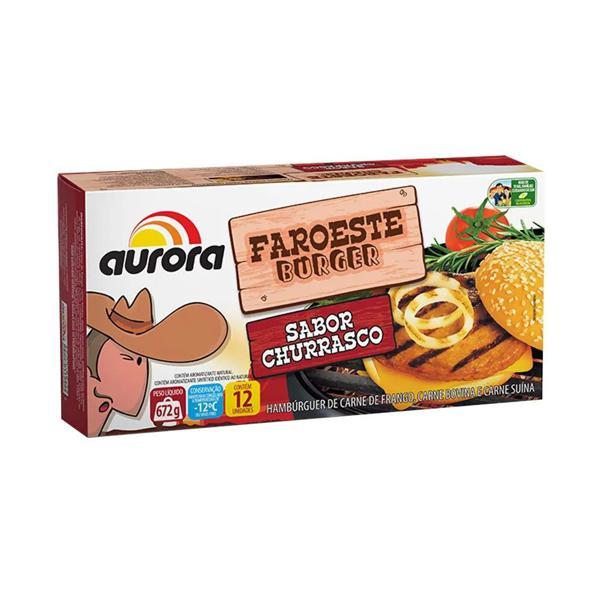 Hamburguer AURORA Faroeste Burger Churrasco 672g
