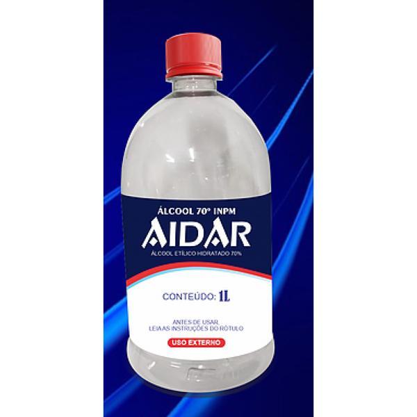 Álcool Aidar 1Lt 70°Inpm liquido