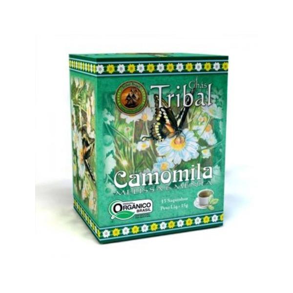 Chá Orgânico Camomila, Melissa e Mente Caixa 15g
