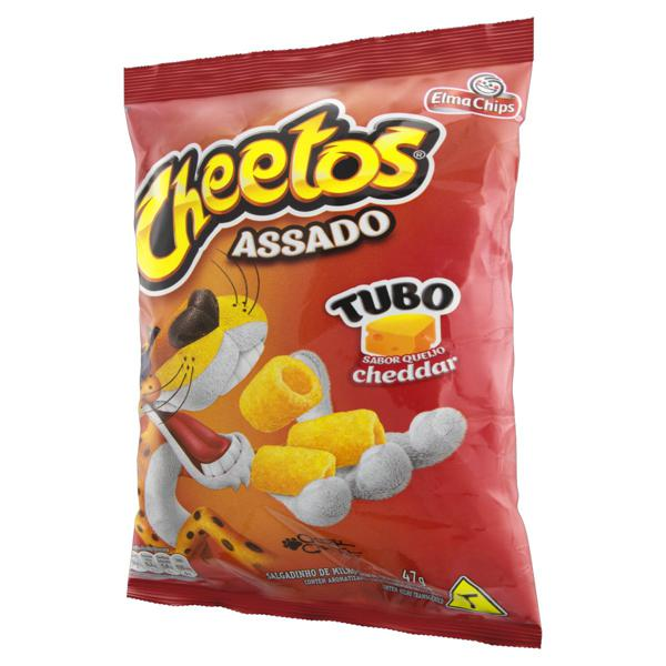 Salgadinho de Milho Tubo Queijo Cheddar Elma Chips Cheetos Pacote 47g