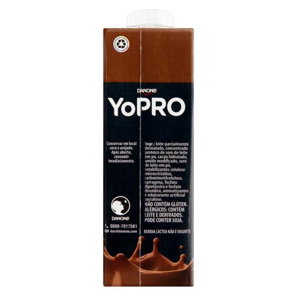 Bebida Láctea UHT Chocolate Zero Lactose YoPRO 15g High Protein Caixa 250ml