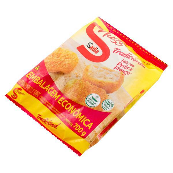 Empanado de Frango Tradicional Sadia Nuggets Pacote 700g Embalagem Econômica