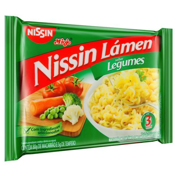 Macarrão Instantâneo Legumes Nissin Miojo Lámen Pacote 85g