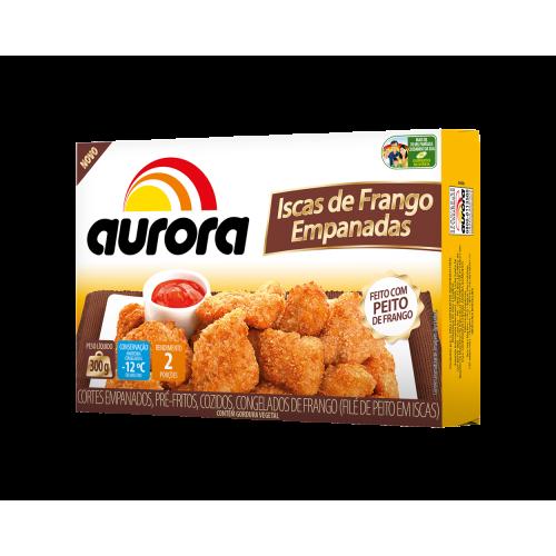 Isca Frango Empanada Aurora 300Gr