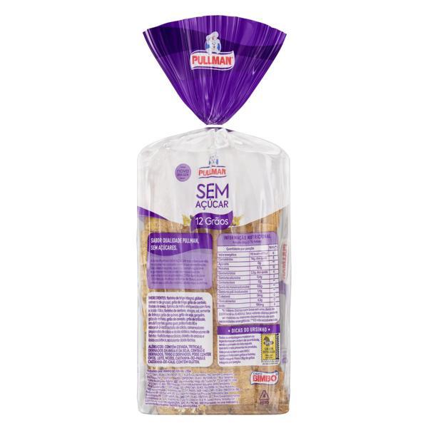 Pão Integral 12 Grãos Zero Açúcar Pullman Pacote 350g
