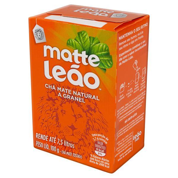 Chá Mate a Granel Natural Matte Leão Caixa 100g