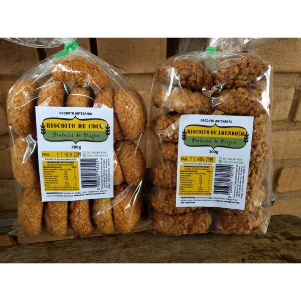 Biscoito de coco 280g - Produtos de Origem VALIDADE 29/07