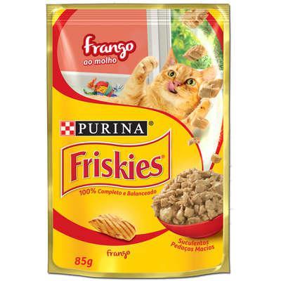 Ração para Gatos PURINA Friskies Sachê Frango ao Molho 85g