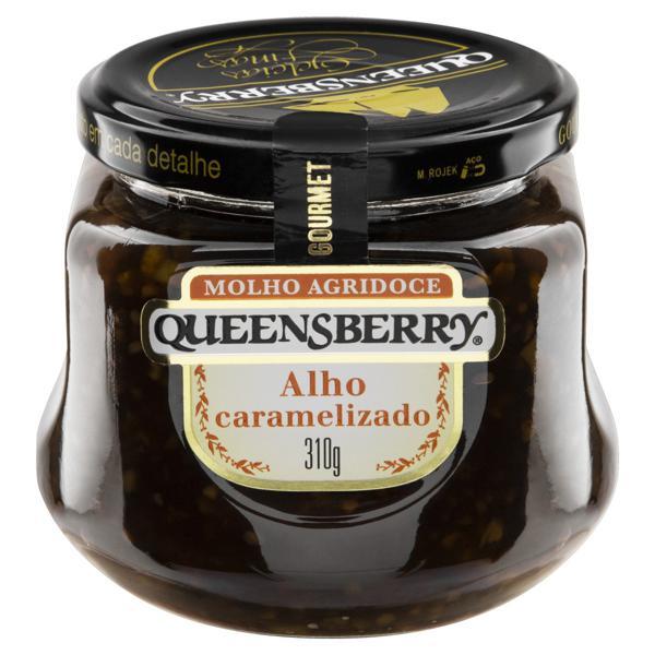 Molho Agridoce Alho Caramelizado Queensberry Gourmet Vidro 310g