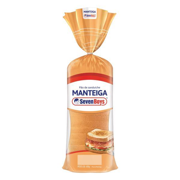 Pão de Sanduíche Manteiga Seven Boys Pacote 450g