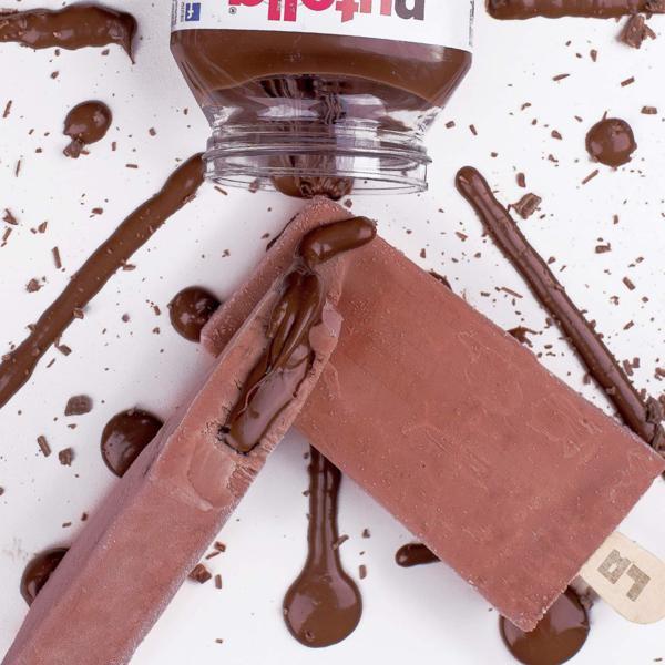 Picolé  Gourmet de Mousse de Nutella Recheado de Nutella 128g