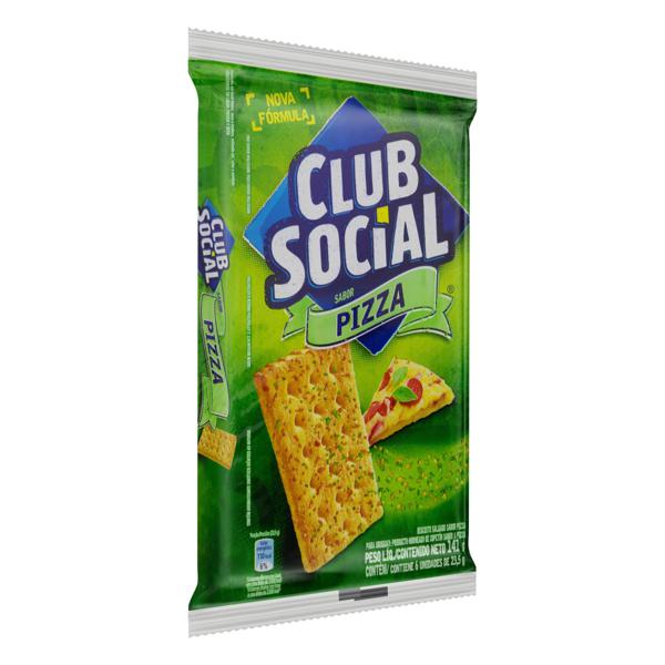 Pack Biscoito Pizza Club Social Pacote 141g 6 Unidades