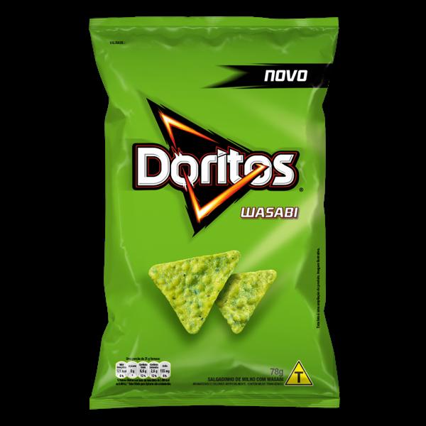 Salgadinho Elma Chips Doritos Sabor Wasabi 78g
