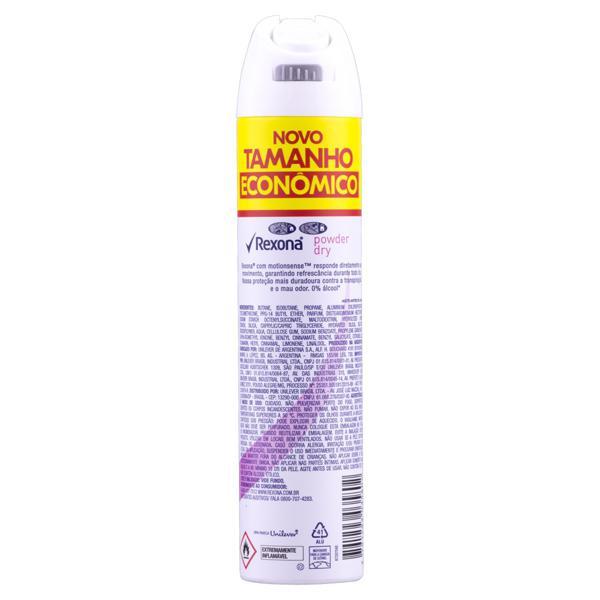 Antitranspirante Aerossol Powder Dry Rexona Motionsense 200ml