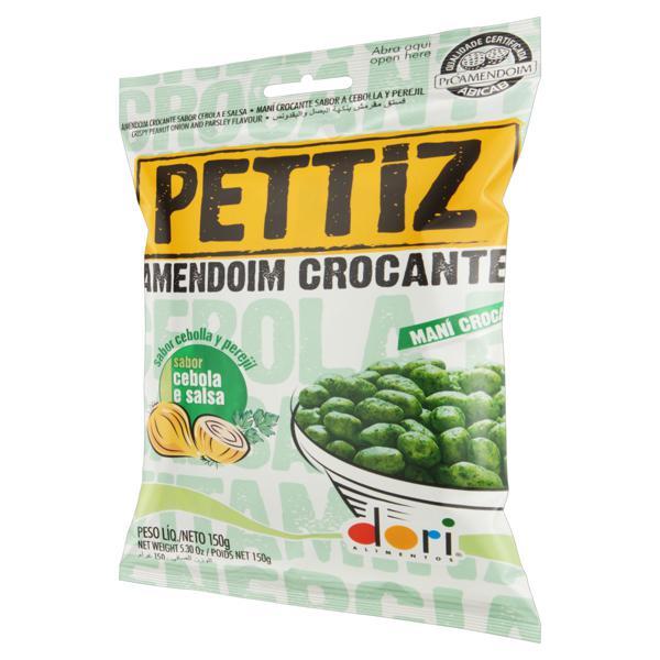 Amendoim Crocante Cebola e salsa Dori Pettiz Pacote 150g