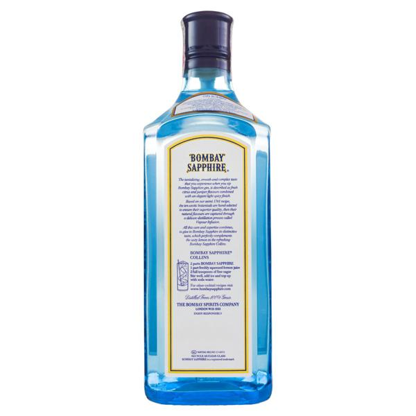 Gin London Dry Bombay Sapphire Garrafa 750ml