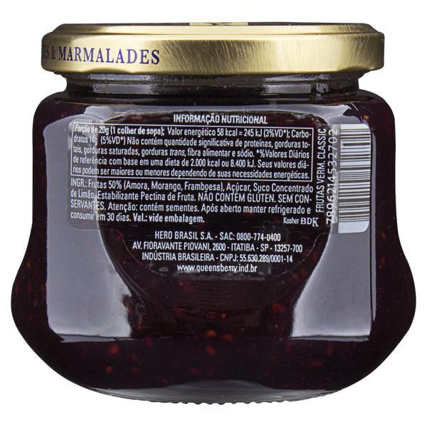 Geleia Frutas Vermelhas Queensberry Classic Vidro 320g