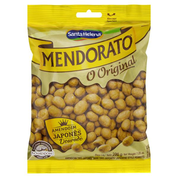Amendoim Japonês Dourado Mendorato Pacote 200g
