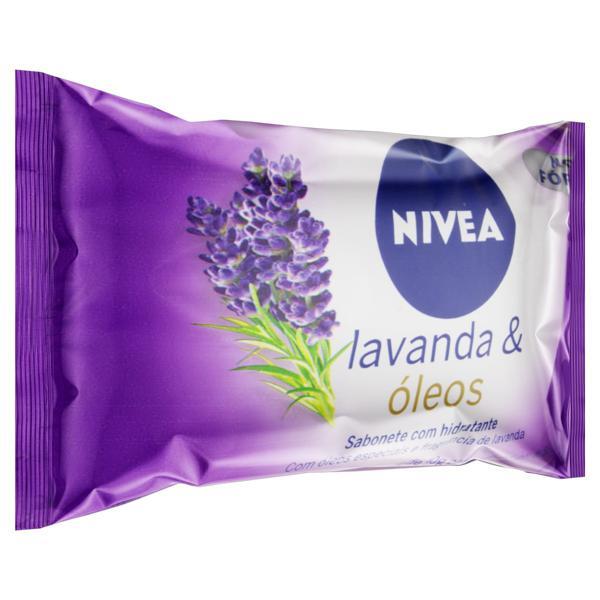 Sabonete em Barra Hidratante Lavanda & Óleos Nivea Pacote 85g