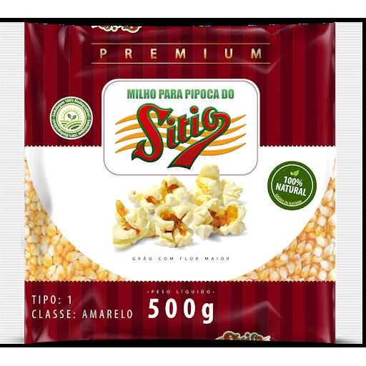 Milho Para Pipoca Do Sitio Premium 500G Pacote
