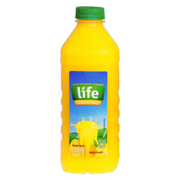 Suco Integral Laranja Life Garrafa 1l