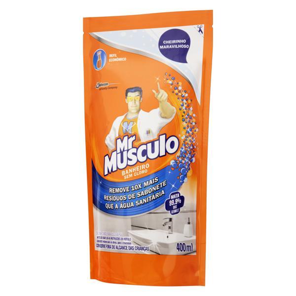 Desinfetante Banheiro Mr Músculo Sachê 400ml Refil Econômico